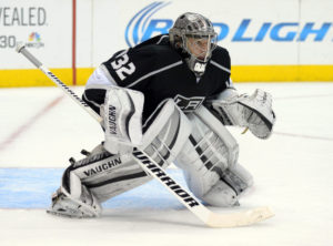 Mar 3, 2014; Los Angeles, CA, USA; Los Angeles Kings goalie Jonathan Quick (32) during the game against the Montreal Canadiens at Staples Center. Mandatory Credit: Kirby Lee-USA TODAY Sports ORG XMIT: USATSI-138488 ORIG FILE ID: 20140303_ajl_al2_365.JPG